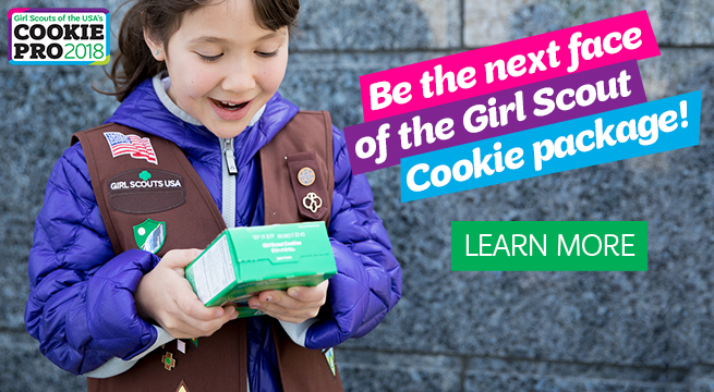 Be the next face of the Girl Scout Cookie package!