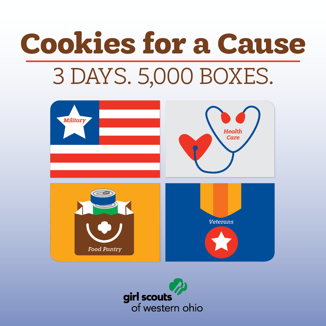 Cookies for a Cause Challenge Social Post